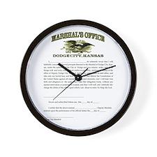 Dodge City Marshal Wall Clock