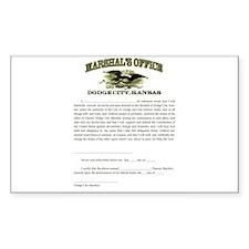 Dodge City Marshal Decal