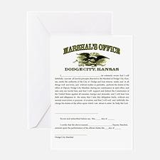 Dodge City Marshal Greeting Card