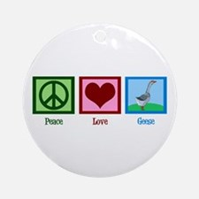 Peace Love Geese Ornament (Round)