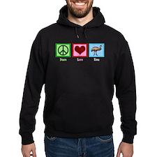 Peace Love Emu Hoodie