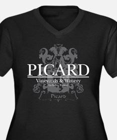 Picard Vineyard Women's Plus Size V-Neck Dark T-Sh