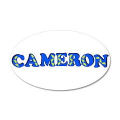 Cameron 38.5 x 24.5 Oval Wall Peel