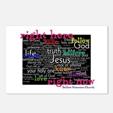 Inverted the baptists believe in the right to life Postcards (Package of 8)