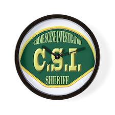 Sheriff CSI Wall Clock