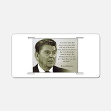ReaganQuote Aluminum License Plate