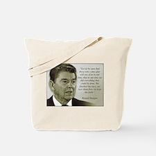 ReaganQuote Tote Bag