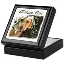 Golden Retriever Nature Girl Keepsake Box