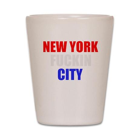 New York Fuckin City USA Amer Shot Glass