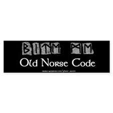 """""""Norse Code"""" Bumper Bumper Sticker"""