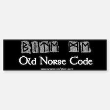 """""""Norse Code"""" Bumper Car Car Sticker"""