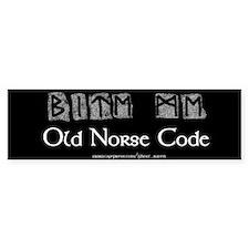 """""""Norse Code"""" Bumper Car Sticker"""