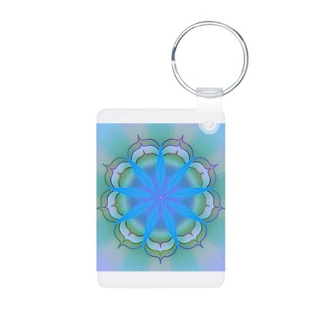 LightoftheLotus40 Aluminum Photo Keychain
