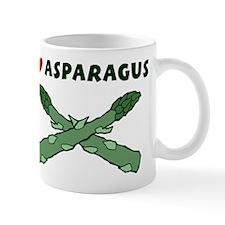 I Love Asparagus Coffee Mug