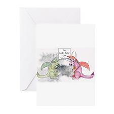 Smoking Dragon Greeting Cards (Pk of 20)