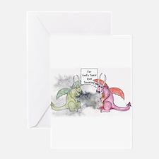 Smoking Dragon Greeting Card