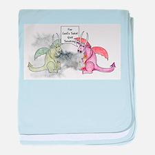 Smoking Dragon baby blanket
