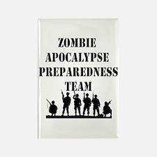 Zombie Apocalypse Preparedness Team Rectangle Magn
