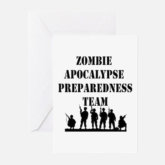 Zombie Apocalypse Preparedness Team Greeting Cards