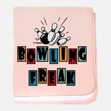 Retro Vintage Bowling Freak baby blanket