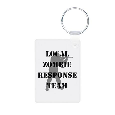 LOCAL ZOMBIE RESPONSE TEAM Aluminum Photo Keychain