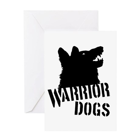Warrior Dogs Greeting Card
