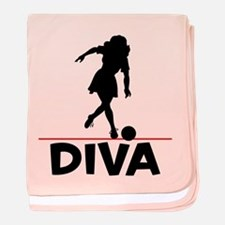 Bowling Diva Bowler baby blanket