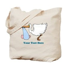 Baby Boy With Stork Tote Bag