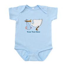 Baby Boy With Stork Infant Bodysuit