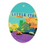 Little Italy San Diego Ornament (Oval)