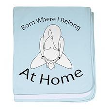 Cute Homebirth baby blanket
