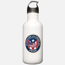 Puerto Rican American Pride Water Bottle