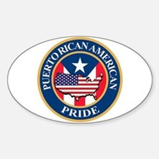 Puerto Rican American Pride Decal