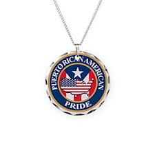 Puerto Rican American Pride Necklace
