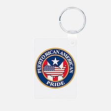 Puerto Rican American Pride Keychains
