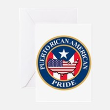 Puerto Rican American Pride Greeting Cards (Pk of