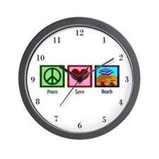 Peace Love Beach Wall Clock