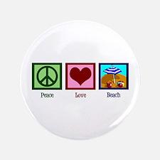 """Peace Love Beach 3.5"""" Button"""