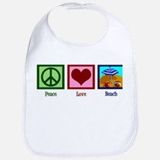 Peace Love Beach Bib