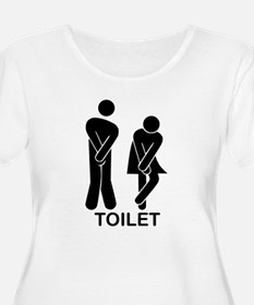 Funny Toilet Sign T-Shirt