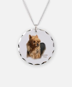 Australian Terrier Art Necklace