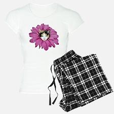 Calico Cat Flower Pajamas