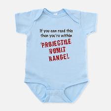 Funny Baby Vomit Warning Infant Bodysuit