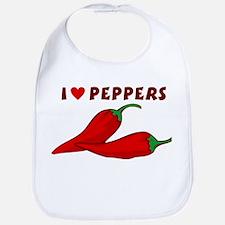 I Love Peppers Baby Bib