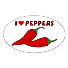 I Love Peppers Decal