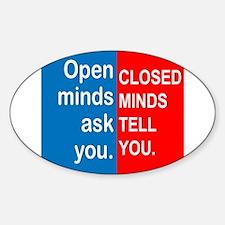 Open Mind Sticker (Oval)