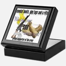 Army What Does Your Son Wear Keepsake Box