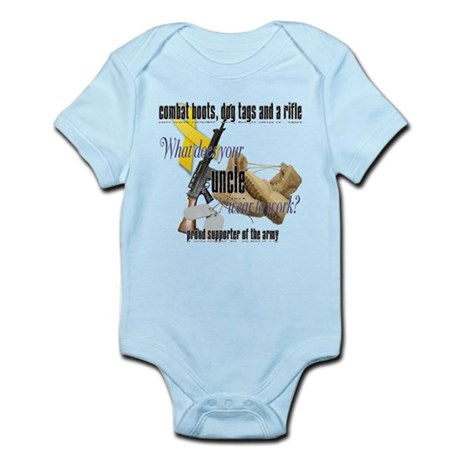 Army What Does Your Uncle Wear Infant Bodysuit