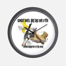 Army What Does Your Son Wear Wall Clock