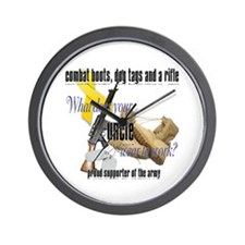 Army What Does Your Uncle Wear Wall Clock